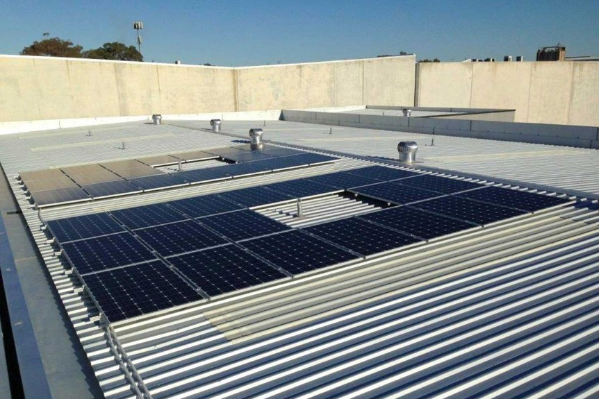 Probedrill 10 kW commercial solar system