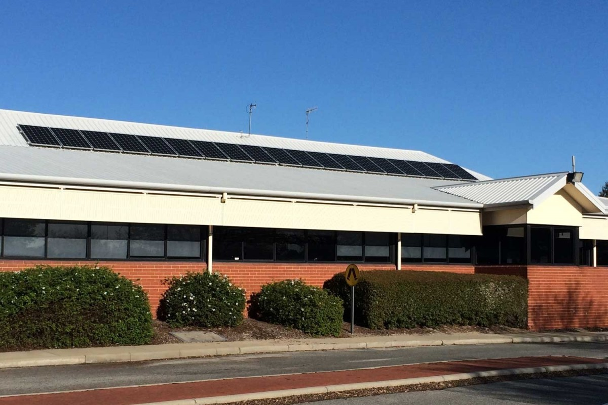 Commercial solar PV system installed for Water Corporation Perth Canning Vale WA