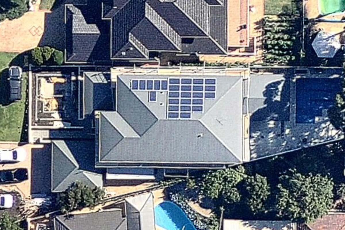 6.5 kW Solar Power System Double View WA