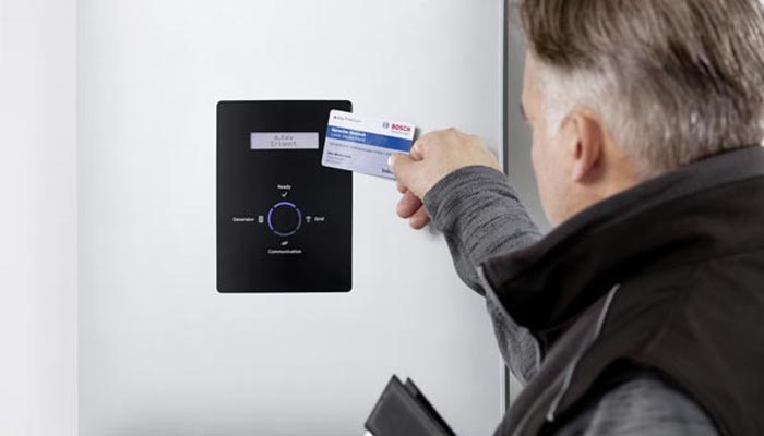 Bosch Solar Inverter commissioned via RFID card