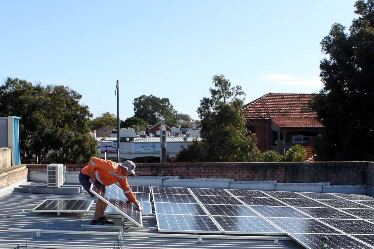 20 kW commercial solar installation perth