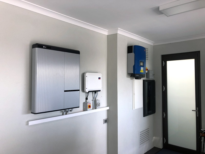 Home with solar battery system in Perth